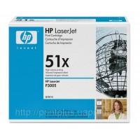 Заправка картриджей HP Q7551X (№51X), принтеров HP LaserJet P3005/M3027/M3035