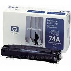 Заправка картриджей HP 92274A (№74А), принтеров HP LaserJet 4l/4ml/4p/4mp